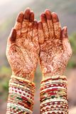 Henna Hands and Bangles Royalty Free Stock Photo