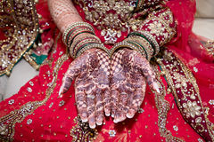 Henna hands stock images