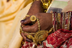 Henna on hands , India Royalty Free Stock Photo