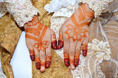 Henna On Hands Stock Images