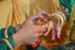 Henna On Hands Royalty Free Stock Photography