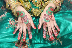 Henna On Hands Royalty Free Stock Image