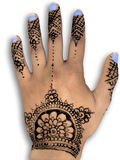 Henna hena mehendi design - isolated blue nails an Stock Photos