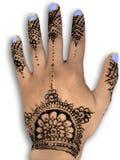 Henna hena mehendi design - isolated blue nails an Stock Photos