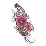 Henna Indian Paisley Stockbild