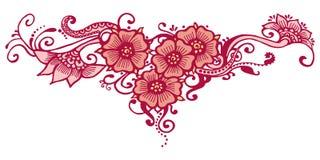 Henna Indian Paisley Royalty-vrije Stock Afbeeldingen