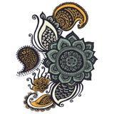 Henna indianin Paisley ilustracja wektor
