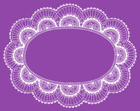 Henna lace Doily Frame Vector Design Element. Hand-Drawn Henna lace Doily Frame Doodle Vector Design Element- Vector Illustration Royalty Free Stock Photography