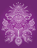Henna Lace Paisley Flower Vector Immagine Stock