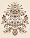 Henna Lace Paisley Flower Vetor Imagens de Stock Royalty Free