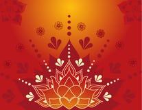 Henna lotos Obraz Royalty Free