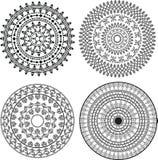 Henna Mandala. Mandala Design, easily  and elaborate Stock Photography