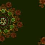 Henna mandala background Stock Images