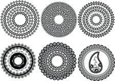 Henna Mandala designs Royalty Free Stock Images