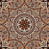 Henna mandala seamless pattern Stock Photography
