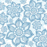 Henna Mehendi Tattoo Doodles Seamless Pattern on a white. Background Royalty Free Stock Images