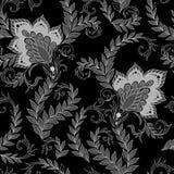 Henna Mehendi Tattoo Seamless Pattern. Henna Mehendi Tattoo Doodles Seamless Pattern Stock Photography
