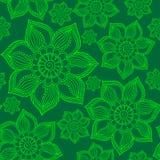 Henna Mehendi Tattoo Seamless Pattern. Henna Mehendi Tattoo Doodles Seamless Pattern Royalty Free Stock Image