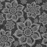 Henna Mehendi Tattoo Seamless Pattern. Henna Mehendi Tattoo Doodles Seamless Pattern Royalty Free Stock Photo