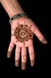 Henna - Mehendi tatuering - huvuddelkonst 01 Arkivbild