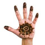 Henna - Mehendi tatuering - huvuddelkonst 03 Royaltyfria Foton