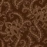 Henna MehendyTattoo Doodles Seamless Pattern Fotos de archivo libres de regalías
