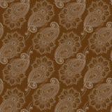 Henna MehendyTattoo Doodles Seamless Pattern Foto de archivo
