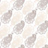 Henna MehendyTattoo Doodles Seamless Pattern Fotos de archivo