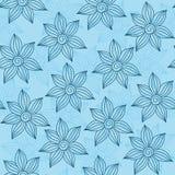 Henna MehendyTattoo Seamless Pattern en un fondo azul Fotos de archivo
