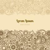 Henna Mehndi Card Template Images libres de droits