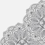 Henna Mehndi Card Template Conception d'invitation de Mehndi, élément pour des invitations de décoration et cartes, floral ornam  Images stock