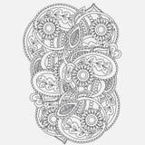 Henna Mehndi Card Template Conception d'invitation de Mehndi, élément pour des invitations de décoration et cartes, floral ornam  Images libres de droits