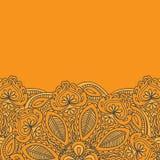 Henna Mehndi Card Template Projeto do convite de Mehndi, elemento para convites da decoração e cartões, linha floral ornam de Pai Foto de Stock