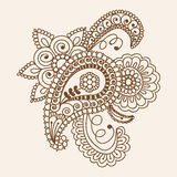 Henna Mehndi Doodles Abstract Floral Paisley Design Elements, Ma Stock Photo