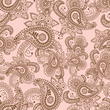 Henna Mehndi Doodles Abstract Floral Paisley Design Elements, Ma Royalty Free Stock Image