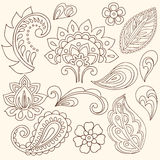 Henna Mehndi Flowers and Paisley Vector