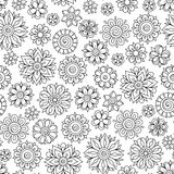 Henna Mehndi Tattoo Doodles Retro Seamless Pattern Stock Photography