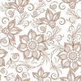 Henna Mehndi Tattoo Doodles Seamless Pattern Royalty Free Stock Images