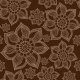 Henna Mehndi Tattoo Doodles Seamless Pattern Stock Photography