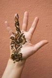 Henna na mão Fotografia de Stock Royalty Free