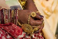 Henna nas mãos Imagens de Stock