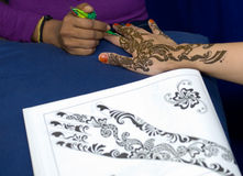 Henna Painting Royalty Free Stock Photography