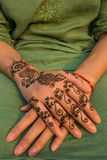 Henna painting on hand Stock Photography