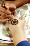 Henna Painting in Singapore royalty-vrije stock foto