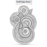 Henna Paisley Doodle Floral Design-Element royalty-vrije illustratie