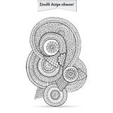 Henna Paisley Doodle Floral Design Element. Stock Photography