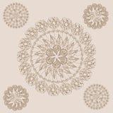 Henna Paisley Flowers Mehndi Tattoo-Gekritzel lizenzfreie abbildung