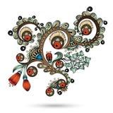 Henna Paisley Mehndi Abstract Vector beståndsdel. royaltyfri illustrationer