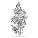 Henna Paisley Mehndi Abstract Vector-Element. Royalty-vrije Stock Afbeelding