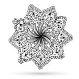 Henna Paisley Mehndi Doodles Abstract floral Imagen de archivo libre de regalías